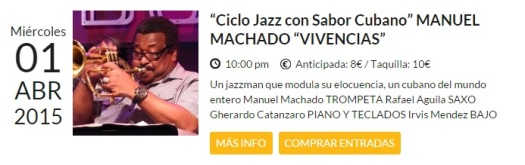 01 de abril - Manuel Machado en Bogui Jazz de Madrid