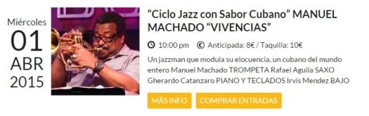 01 de abril - Manuel Machado en Bogui Jazz de Madrid