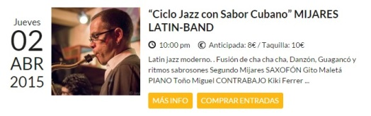 02 de abril - Mijares Latin-Band en el Bagui Jazz de Madrid