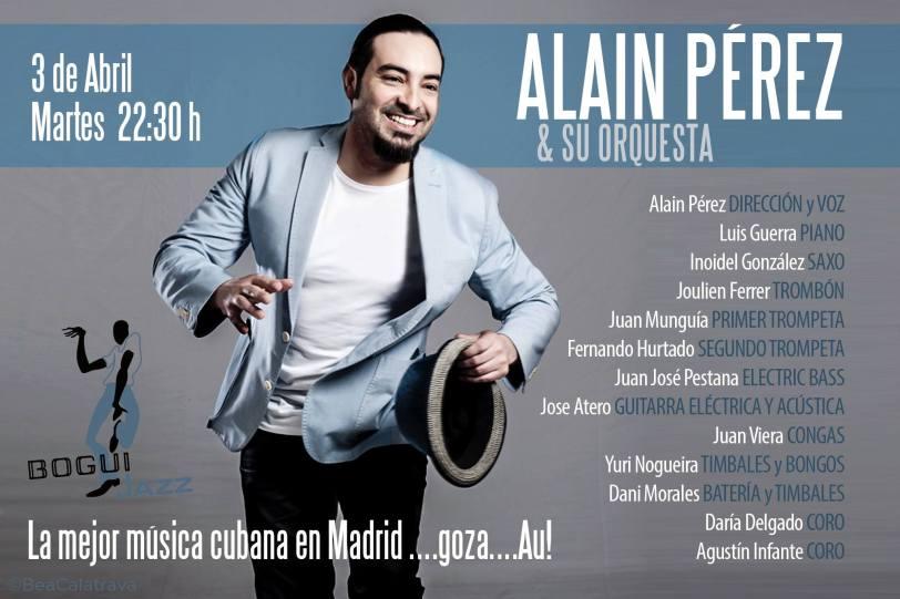 03 de abril - Alain Pérez en el Bogui Jazz de Madrid