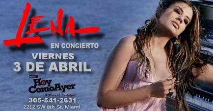 03 de abril - Lena Burke en Hoy Como Ayer de Miami, Florida