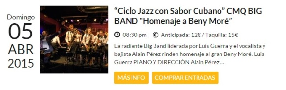 05 de abril - CMQ Big Band en el Bogui Jazz de Madrid