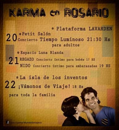 20, 21 y 22 de marzo - Dúo Karma en Rosario