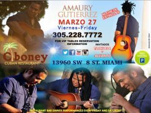 27 de marzo - Amaury Guitérrez en Miami