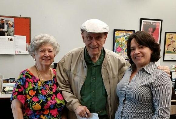 Cristóbal Díaz Ayala con su esposa Marisa e Imilka Fernández de WCM