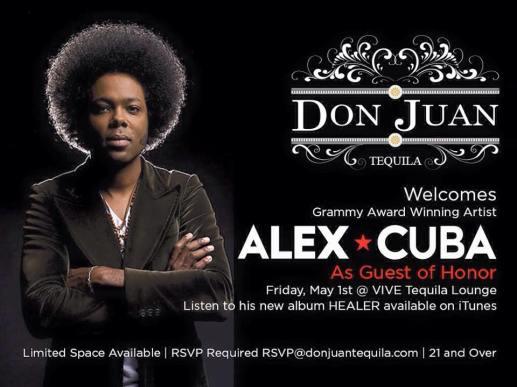 01 de mayo - Alex Cuba en Vive Tequila Lounge de Pomona, California