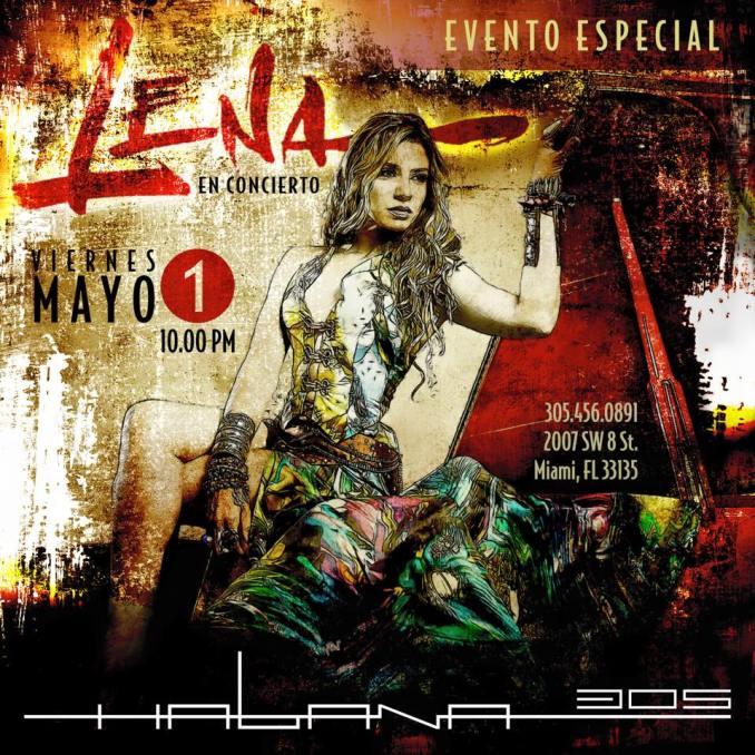 01 de mayo - Lena Burke en Habana 305 de Miami, Florida