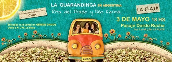 03 de mayo - La Guarandinga en Pasaje Dardo Rocha en La Plata
