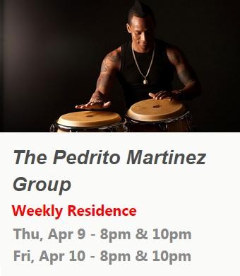 09 y 10 de abril - Pedrito Martínez Group en Subrosa de Nueva York
