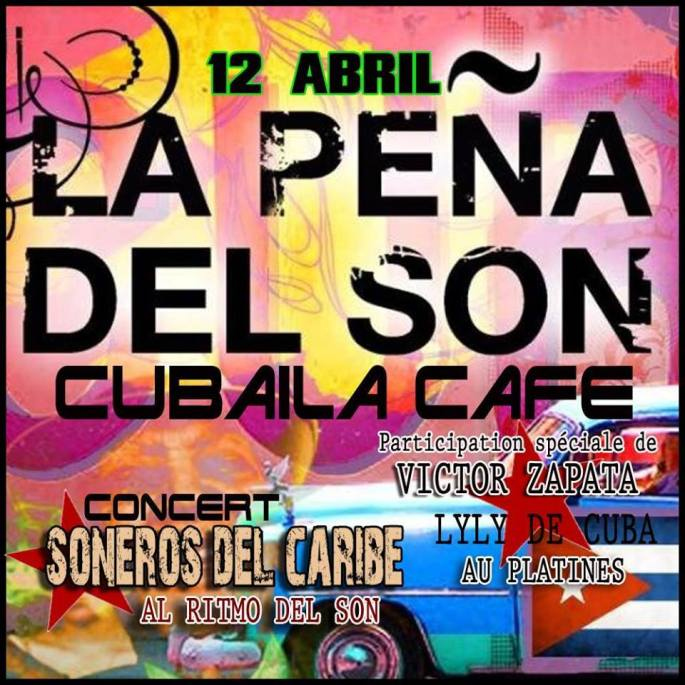12 de abril - Soneros del Caribe en La Peña del Son de Montreouil