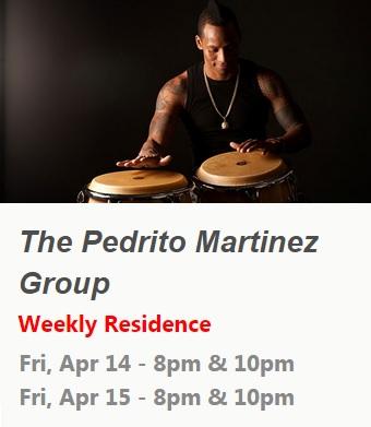 14 y 15 de abril - Pedrito Martínez Group en Subrosa de Nueva York