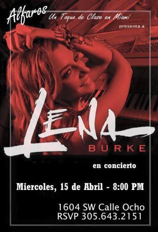 15 de abril - Lena Burke en Alfaros de Miami, Florida