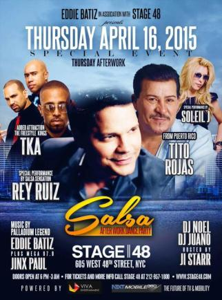 16 de abril - Rey Ruiz y + en Stage 48 de New York City