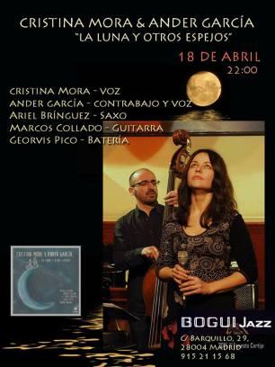 18 de abril - Ariel Brínguez y Georvis Pico con Cristina Mora & Ander García en Bogui Jazz de Madrid