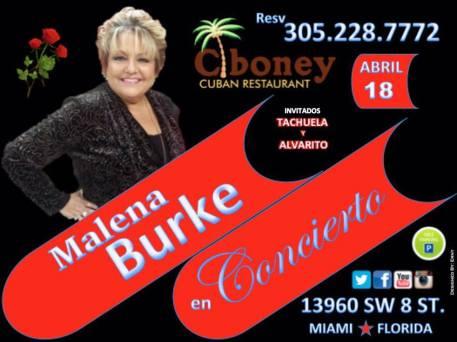 18 de abril - Malena Burke en Ciboney de Miami, Florida