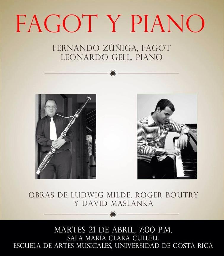 21 de abril - Leonardo Gell y Fernando Zúñiga en la Universidad de Costa Rica, San José