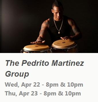 22 y 23 de abril - Pedrito Martínez Group en Subrosa de Nueva York