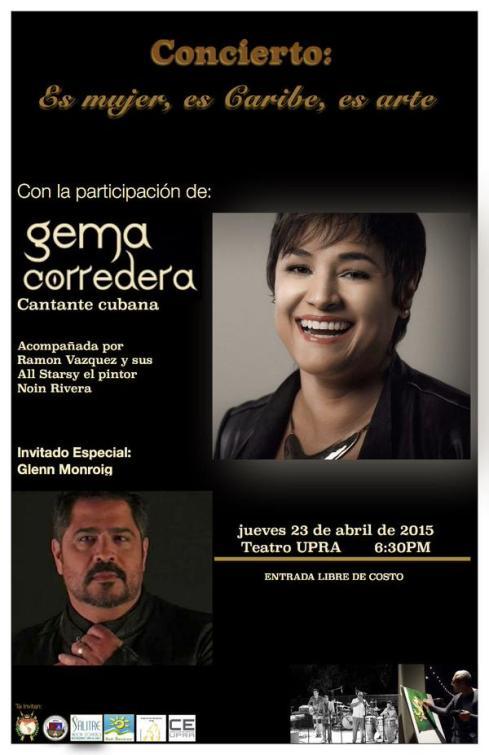 23 de abril - Gema Corredera en el Teatro UPRA de Arecibo