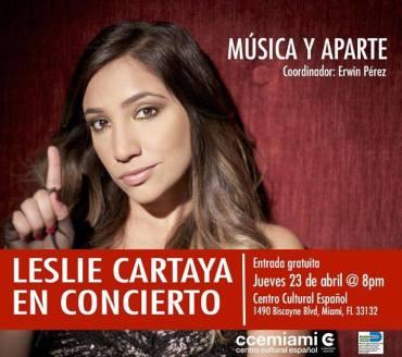 23 de abril - Leslie Cartaya en el Centro Cultural Español de Miami, Florida