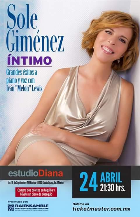 24 de abril - Sole Giménez e Ivan Melon Lewis en Estudio Diana de Guadalajara, Jalisco