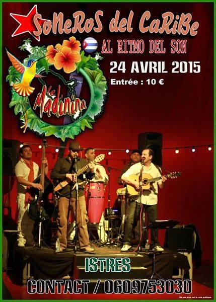 24 de abril - Soneros del Caribe en Le Madinina de Istres