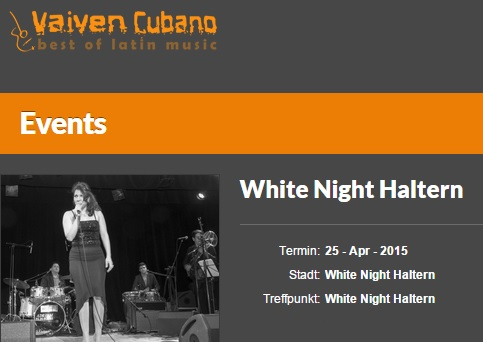 25 de abril - Bárbara y Vaivén Cubano en White Night de Haltern am See