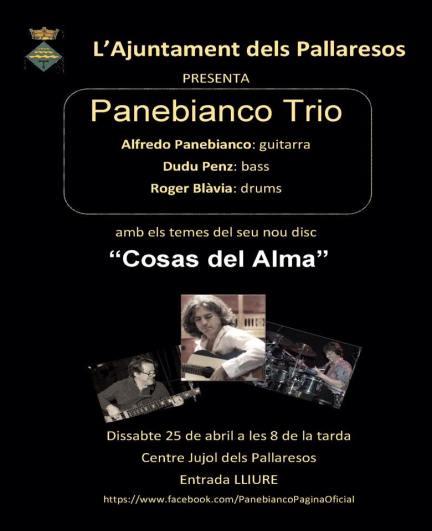 25 de abril - Panebianco Trío en el Centre Jujol dels Pallaresos, Tarragona