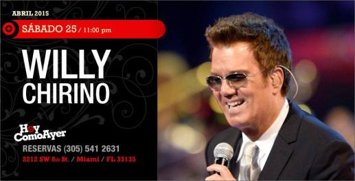 25 de abril - Willy Chirino en Hoy Como Ayer de Miami, Florida