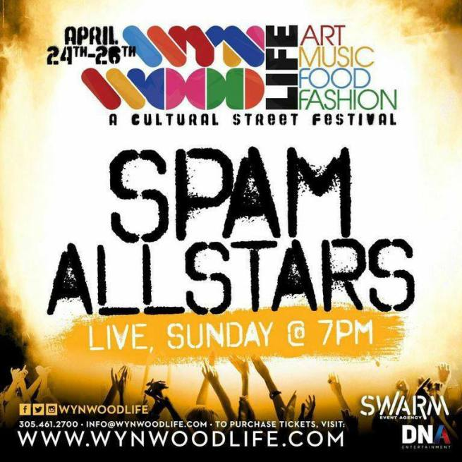 26 de abril - Spam Allstars en Wynwood Life Festival, Miami, Florida