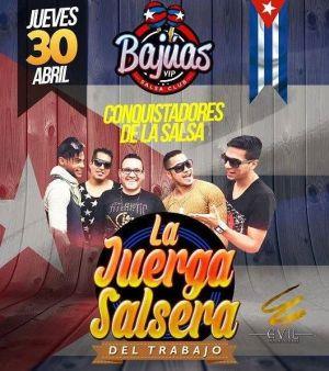 30 de abril - Los Conquistadores de la Salsa en Bajúas VIP de Comas, Lima