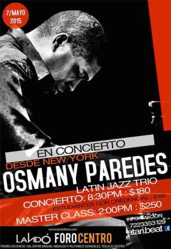 07 de mayo - Osmany Paredes en Landó Foro Centro de Toluca de Lerdo, México