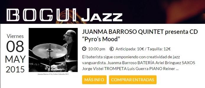Con Ariel Brínguez (saxo), Jorge Vistel (trompeta) y Reiner Elizarde (contrabajo)