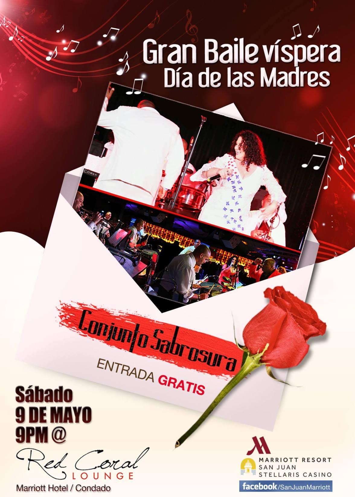 09 de mayo - Conjunto Sabrosura en Red Coral Lounge de San Juan de Puerto Rico
