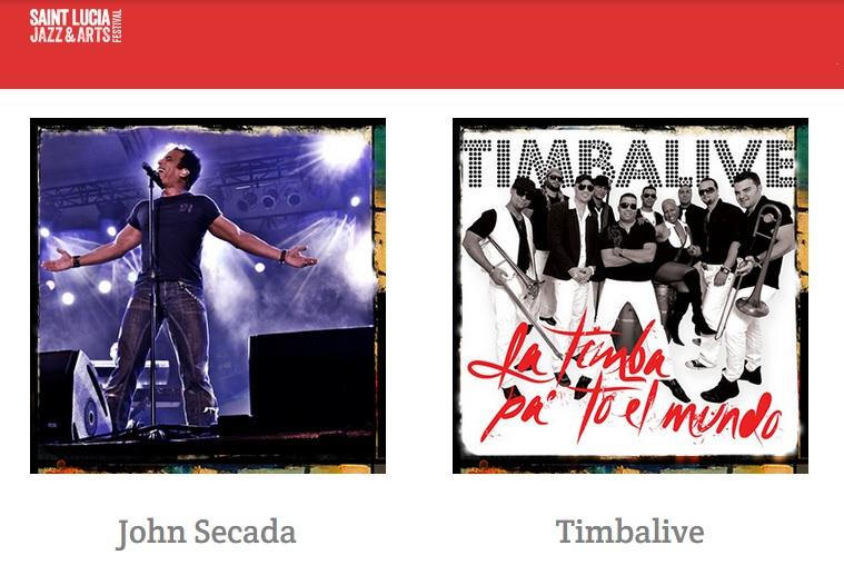 09 de mayo - Jon Secada y Timbalive en Saint Lucia Jazz & Arts Festival en Gros Islet