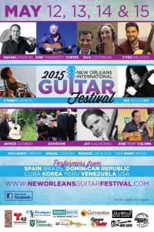 12-15 de mayo - Javier Olondo, Rafael Padrón y + en New Orleans International Guitar Festival
