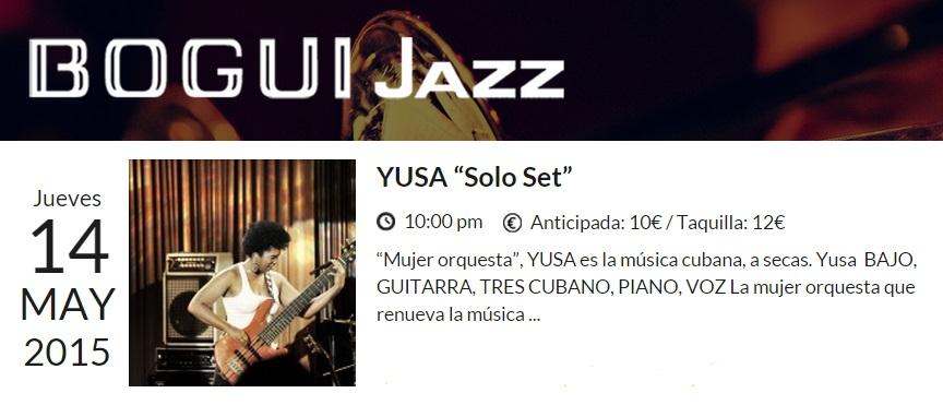 14 de mayo - Yusa en el Bogui Jazz de Madrid