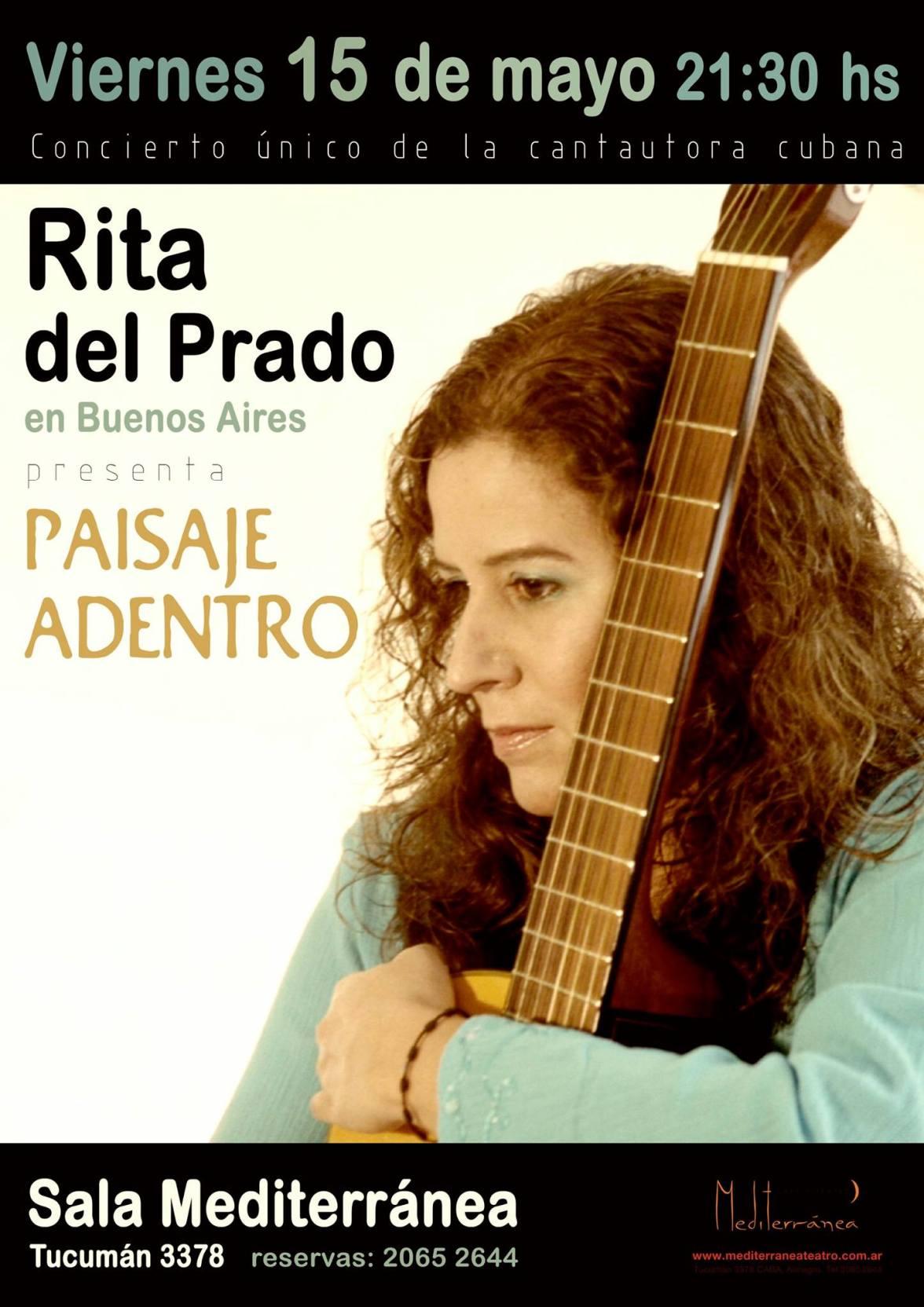 15 de mayo - Rita del Prado en la Sala Mediterránea de Buenos Aires
