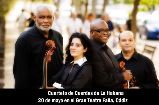 20 de mayo - Cuarteto de Cuerdas de La Habana en el Gran Teatro Falla, Cádiz