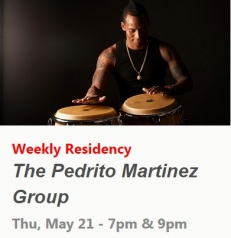 21 de mayo - Pedrito Martínez Group en Subrosa de Nueva York
