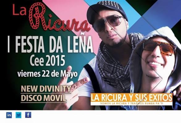 22 de mayo - La Ricura en I Festa da Leña de Cee, La Coruña
