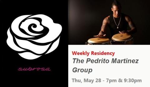 28 de mayo - Pedrito Martínez Group en Subrosa de Nueva York