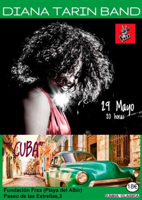 29 de mayo - Diana Tarín Band en Fundación Frax de Alicante, Valencia
