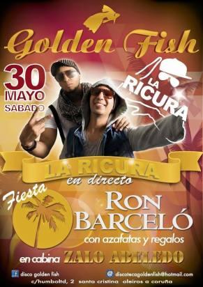 30 de mayo - La Ricura en Golden Fish de Oleiros, La Coruña