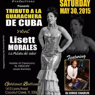 30 de mayo - Lisett Morales en Goldcoast Ballroom de Coconut Creek, Florida