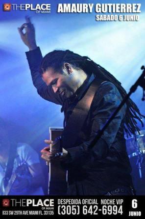 06 de junio - Amaury Gutiérrez en The Place de Miami, Florida