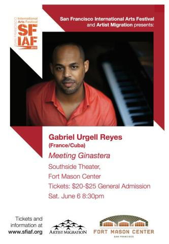 06 de junio - Gabriel Urgell en el Fort Mason Center de San Francisco