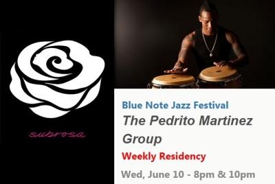 10 de junio - Pedrito Martínez Group en Subrosa de Nueva York