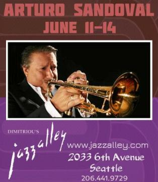 11-14 de junio - Arturo Sandoval en Dimitriou's Jazzalley de Seattle