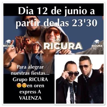 12 de junio - La Ricura en A Valenza, Ourense