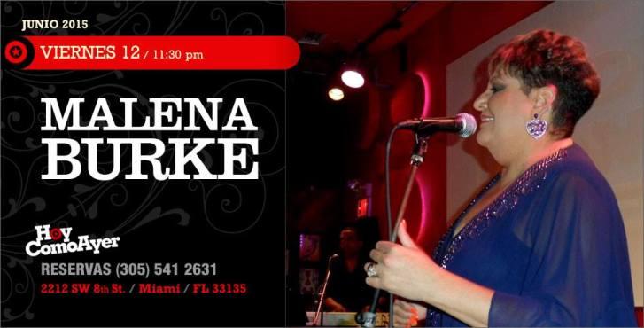 12 de junio - Malena Burke en Hoy Como Ayer de Miami, Florida